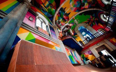 Una chiesa abbandonata diventa uno skatepark
